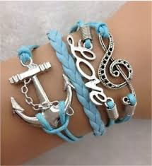 Popular Items For Love Anchors - jewelry fashion infinity love anchor note shaped wedding charm