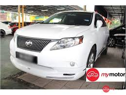 lexus suv 2015 price in malaysia 2009 lexus rx for sale in malaysia for rm139 800 mymotor