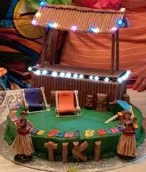 jack and jill tiki bar cake we had friends getting married and had