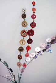 wire button flowers stem beads fun things flowers buttons