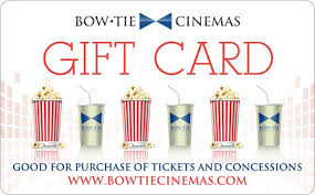 tickets gift card bow tie cinemas gift card