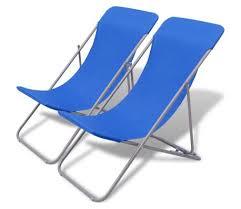 chaise de plage pas cher acheter vidaxl chaise de plage pliable 2 pcs bleu pas cher vidaxl fr