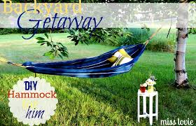 Hammock Backyard Miss Lovie Easy Diy Backyard Hammock