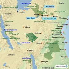 Tanzania Map Tanzania Reisen Dane Safari