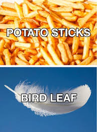 Funny Food Names Meme - different names for regular things beheading boredom