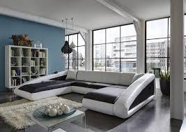Wohnzimmer Sofa Sam Sofa Garnitur Schwarz Weiß Weiß Ciao 250 X 355 X 205 Cm