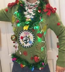 Ugly Christmas Decorations - grinch sweater ebay