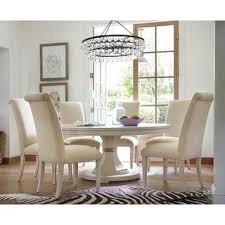 paula deen home round pedestal table in linen finish free