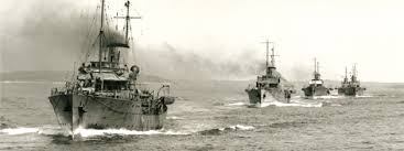corvette boat ww2 rcn squadron fleet photos corvettes leaving halifax april