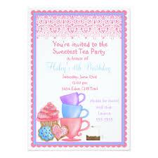princess tea party invitations u0026 announcements zazzle