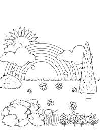 rainbow coloring printable coloring