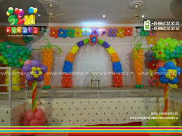 balloon decoration for birthday in home image inspiration of