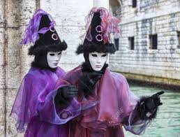 venetian costumes venice italy february 198th 2012 portrait of a disguised