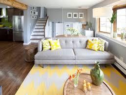 yellow livingroom gray and yellow living room houzz
