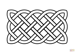 celtic basic rectangular knot coloring page free printable