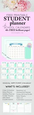 printable student homework planner 40 free student planner printables for back to school