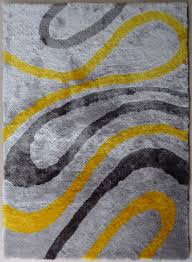 Blue Fuzzy Rug Rug Yellow And Grey Area Rug Home Interior Design