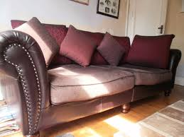 German Leather Sofas Large German Leather And Fabric Sofa In Hull East