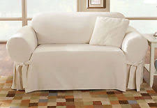 Cotton Duck Sofa Slipcover 2 Seater Sofa 100 Cotton Furniture Slipcovers Ebay