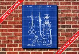 What Size Paper Are Blueprints Printed On Salon Scissors Blueprint Hairdresser Patent Print Poster Salon