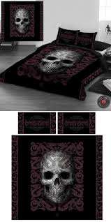 Purple Gothic Bedroom by 13 Best Bedding Images On Pinterest Bedroom Skull Decor And Bed