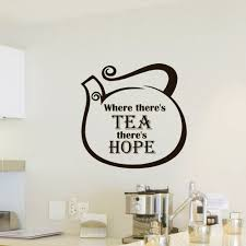 wall decals vinyl sticker quote where theres tea theres hope