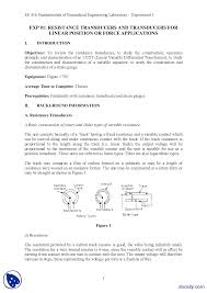 transducers part 1 mesaurement and instrumentation lab mannual