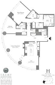 2 Bedroom Condo Floor Plans Trump Tower Chicago Floor Plans Gold Coast Realty