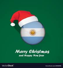 Argentina Flag Photo Flag Of Argentina Merry Christmas And Happy New Vector Image