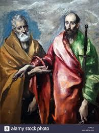 Painting Titled U0027saint Peter And Saint Paul U0027 By El Greco 1541