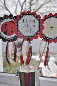 ladybug baby shower ideas 3 centerpiece sticks ladybug personalized birthdays or baby
