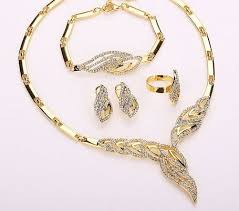 beaded collar necklace jewelry images Gold plated fine jewelry set for women beads collar necklace JPG