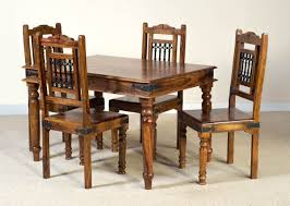 Jali Dining Table And Chairs Jali Sheesham 4 Seater Dining Set Casa Furniture Uk