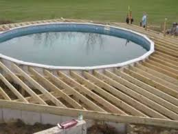 above ground pool deck plans youtube