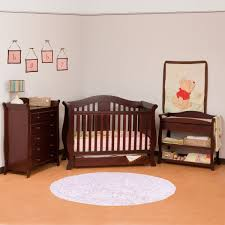 Convertible Cribs With Changing Table Storkcraft 3 Nursery Set Vittoria Convertible Crib Aspen