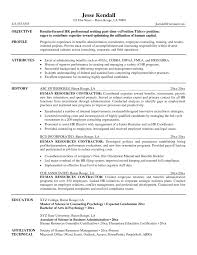 human resources officer sample resume two page resume template
