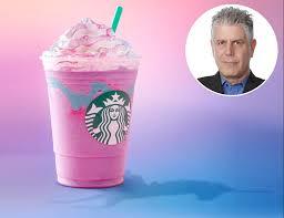 anthony bourdain hates the unicorn frappuccino craze