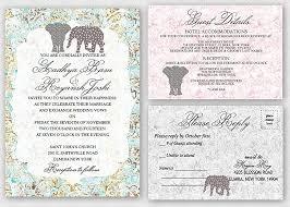 theme wedding invitations elephant theme wedding invitations suite set of 30