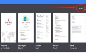Resume On Google Docs 4 Awesome Google Drive Templates To Help Students Create