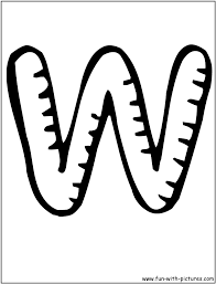 w bubble letters coloring pages get coloring pages