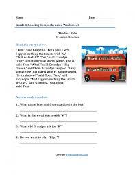 reading comprehension worksheets 1st grade semnext