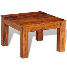 wood sheesham solid wood coffee table 60 x 60 x 40 cm lovdock com