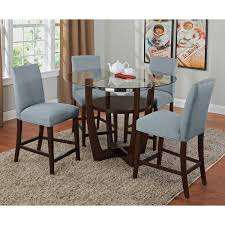 alcove counter height dinette with 4 side chairs aqua american