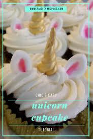 unicorn cupcakes done right chic u0026 easy unicorn cupcakes