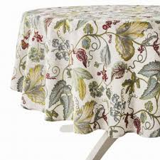 target threshold botanical leaves flowers tablecloth table