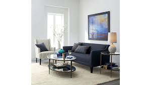 Blue Sofas And Loveseats Margot Small Blue Couch Crate And Barrel