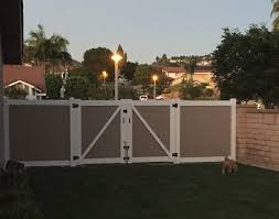 Vinyl Patio Cover Materials by Rv Access Double Gate Yelp