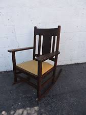 Rocking Chair Antique Styles Arts U0026 Crafts Mission Style Rocking Chairs Antiques Ebay