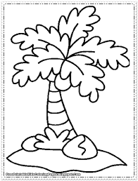 chicka chicka boom boom coloring page coconut tree coloring page