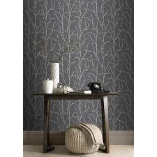 rasch willow tree wallpaper charcoal grey u0026 silver 309720